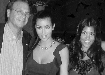 With Kim and Kourtney Kardashian in Dallas at Highland Park Village