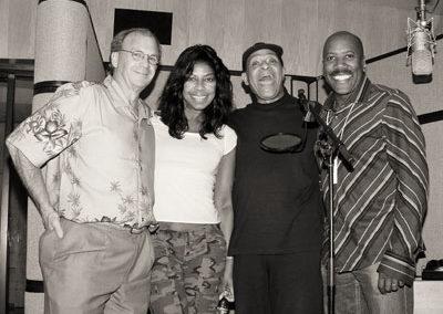 With Natalie Cole, Al Jarreau and Nathan East in LA studio