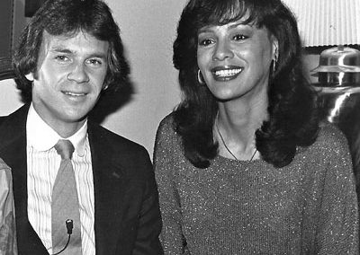 With Marilyn McCoo at the PTL show