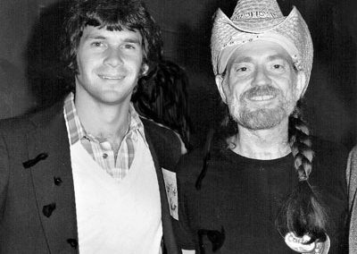 With Willie Nelson on stage after a Willie concert in Atlanta
